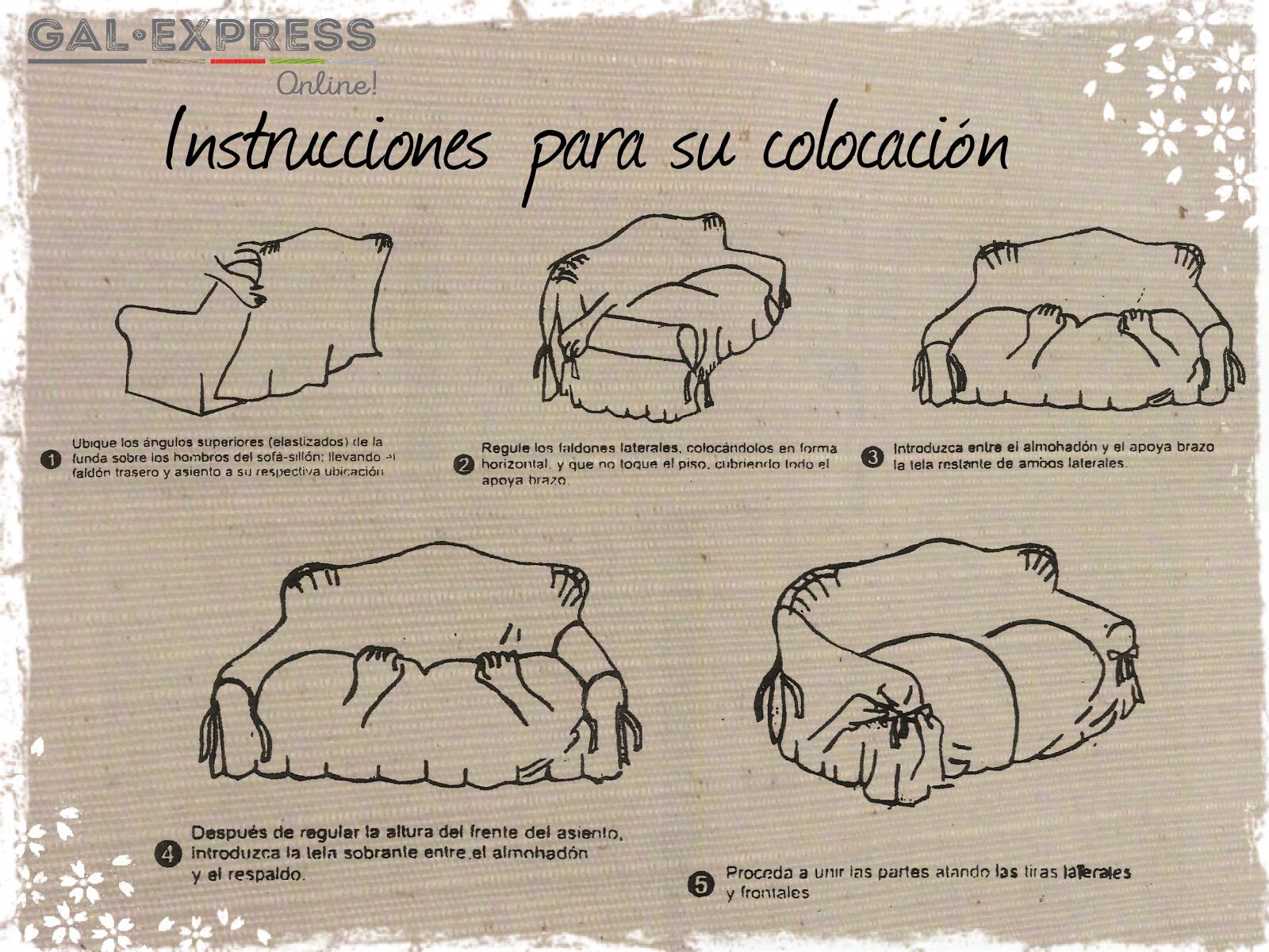 Fundas de sillón: Instrucciones de colocación